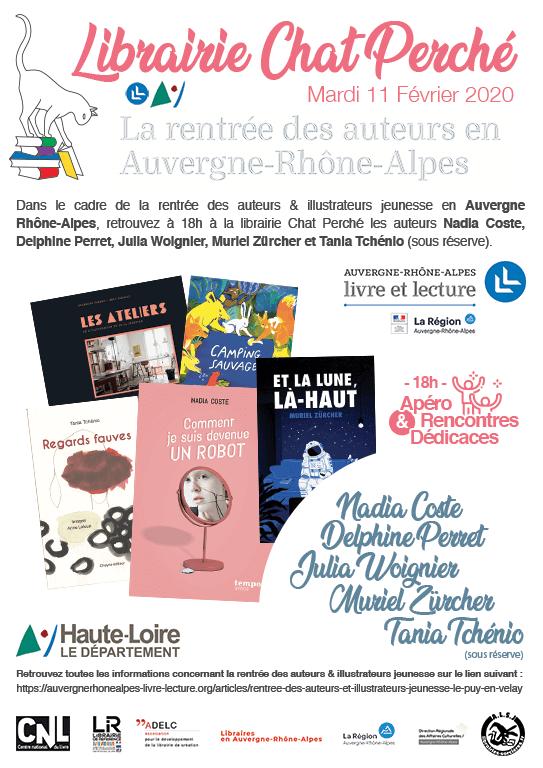 La rentrée des auteurs en Auvergne-Rhône-Alpes à la librairie Chat Perché, Le Puy-en-Velay