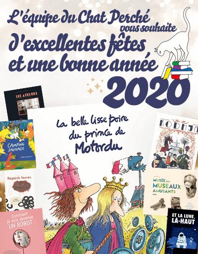 Bonne année 2020 vous souhaite la librairie Chat Perché, Le Puy-en-Velay.